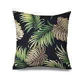 Palmera Manta fundas de almohada para sofá Lienzo con cremallera cojín verde Tropical Swaying Palmeras Funda de almohada para el hogar decorativo 18x 18pulgadas almohada sofá, tela, Colour 5, 18x18