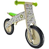 Kiddimoto 649 Children's Fossil Kurve Wooden Balance Bike