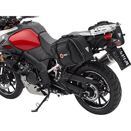 QBag Motorrad-Satteltaschen Satteltaschenpaar 01 abnehmbar, inkl. Regenhaube, universell, 30-46 Liter Stauraum, über 2 Reißverschlüsse einstellbar, Stauraum von 15 auf 23 Liter pro Tasche erweiterbar