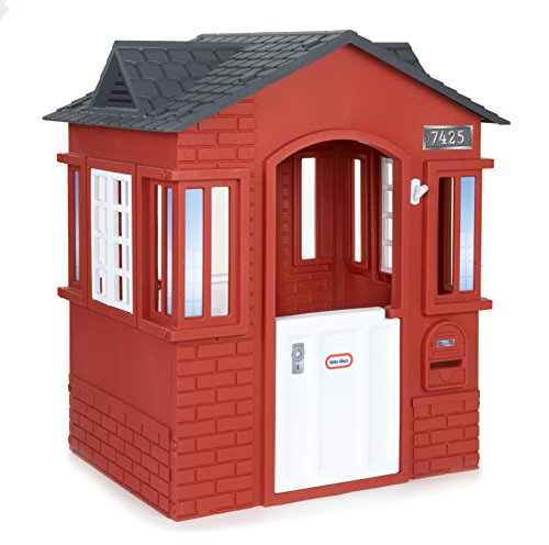 A super stylish playhouse featuring a contemporary design in red and black colours, and funky brick details. With compact dimensions, this is perfect for small gardens. It comes at a decent price too.