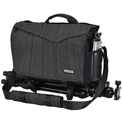 CADeN Kameratasche, Kamera Messenger umhängetasche, DSLR SLR Wasserdicht Foto Tasche Diebstahlschutz Schutzhülle für Nikon Canon Sony Spiegelreflex Stativ