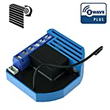 Qubino ZMNHCD1 Flush Shutter Unterputz-Mikromodul EU Z-Wave Plus, 1 Stück, Schwarz/blau