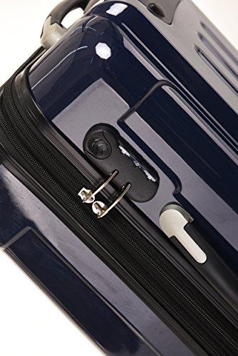 BEIBYE Zwillingsrollen 2048 Hartschale Trolley Koffer Reisekoffer in M-L-XL-Set in 17 Farben (Dunkelblau, SET) - 5