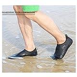 SAGUARO Unisex Wasserschuhe Badeschuhe Aquaschuhe Wasserdicht Schnell Trocknend Slip on Breathable Strandschuhe Schwimmschuhe Damen Neoprenschuhe Barfuß Schuhe für Herren(Schwarz,43) -