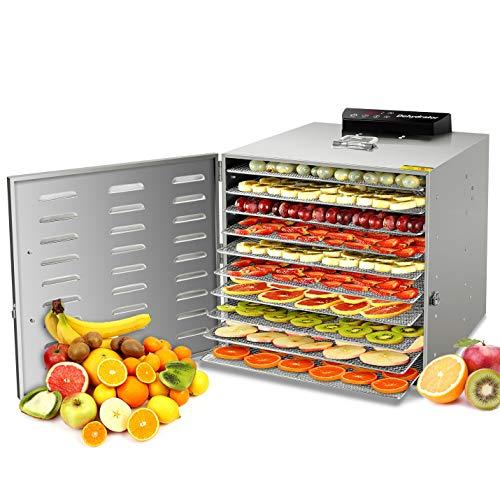 GCSJ Acciaio Inossidabile Essiccatori per Alimenti, 10 scomparti Con Display LCD, 24 ore Timer,...
