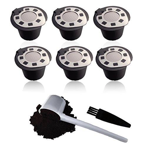 Capsule Nespresso riutilizzabili - 6 pacchetti - Pods refillabili per le macchine Nespresso Ultima...