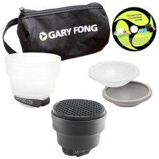 Gary Fong Portrait Lighting Kit - Difusor para flash, blanco y negro