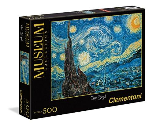Clementoni - 30314 - Museum Collection Puzzle - Van Gogh, Notte Stellata - 500 Pezzi