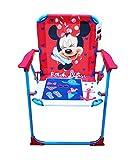 Takestop silla plegable Minnie Mouse Minnie Disney fucsia azul para niños infantil niño Camping dormitorio Mar Playa Jardín de Metal y Plástico con reposabrazos portátil estructura ligera 53x 38x 39cm
