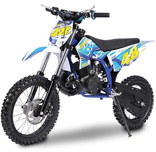 Pitbike Motocicletta da Motocross 50cc NCX Moto Phantom 14/12 Nac Nac Blu