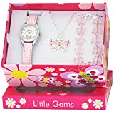 Ravel 'Little Gems' Butterfly Watch and Silver Plated Jewellery Set.