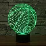 PENG luci di basket colorato lampada di tocco illusione 3D LED Creative Desktop lampada variopinta di notte della luce