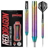 Razor Edge Spectron Steel Dartpfeile 22 Gramm Profi Steeldarts Set, 3 x Steel Darts mit Flights und Schäfte