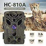 NZNNXN Wildkamera HD Leichtes Glühen Infrarot Nachtsicht Überwachungskamera mit Bewegungsmelder und Wasserdichtes Design für Jagd, Überwachung von Eigentum und Tieren