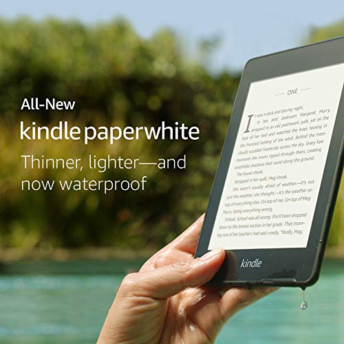"""All-New Kindle Paperwhite 4G LTE (10th gen) - 6"""" High Resolution Display with Built-in Light, 32GB, Waterproof, WiFi + Free 4G LTE 14"""