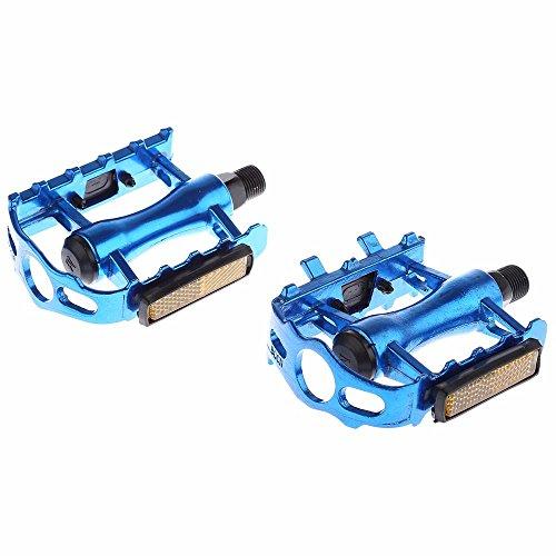 CDKJ Pedal de Bicicleta con Aleacion de Aluminio Emparejado con Equipo de Reparacion BMX para Bicicletas de Montaña(Azul)