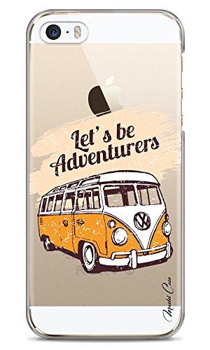 Master Case – Coque iPhone 5/5s/SE Transparente Motif Dessin, Designer, valises, Voyage, Vacances, Travel, Impression Haute qualité Coque Hybride avec Bumper Souple en TPU, Face arrièr