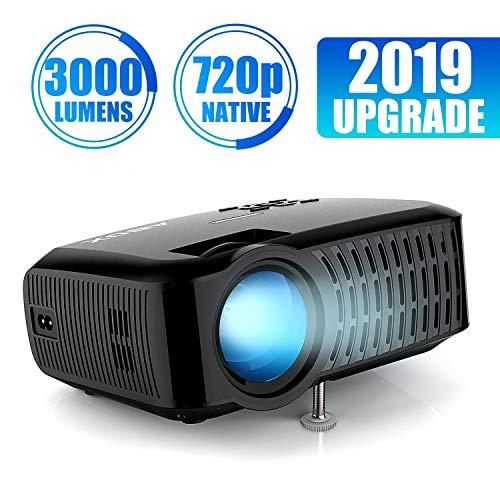Beamer,3000 Lumen ABOX 2018 Aktualisierte Mini LED Projektor,+60{ea66ff0f5fdec9ea486d7eae68cd78af1934c4f2937ed00340ed9a3e244e4f59} Helligkeit Full HD 1080P,unterstützt HDMI USB SD VGA AV für Amazon Firestick,Laptop,Smartphone perfekt für Fußballspiele,Filme