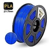 Enotepad PLA 3D Printer Filament, PLA Filament 1.75mm,Dimensional Accuracy 1.75±0.02 mm,Blue PLA 1KG Spool