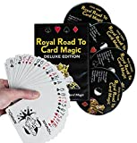 Magic DVD Set - Royal Road to Card Magic Deluxe - Complete Set with DVD and Delands Marked Deck - Learn Over 100 Card Trick Effects, Beginner to Expert by Magic Makers