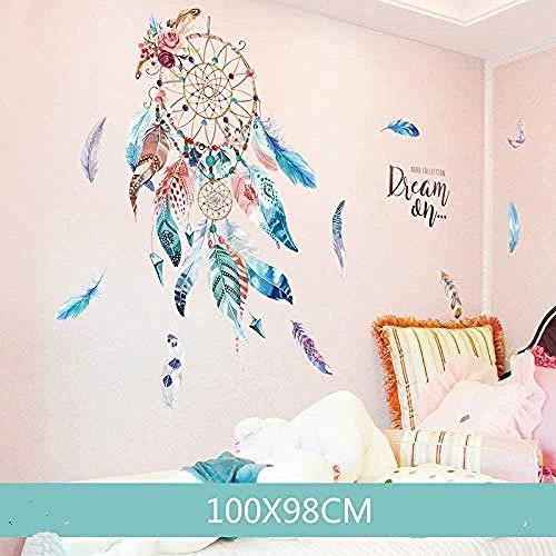 Adesivo Da Parete Orologio Carta Da Parati Murale One Piece Dream Catchercreative Room Room Roomcamera Da Letto 98X100cm