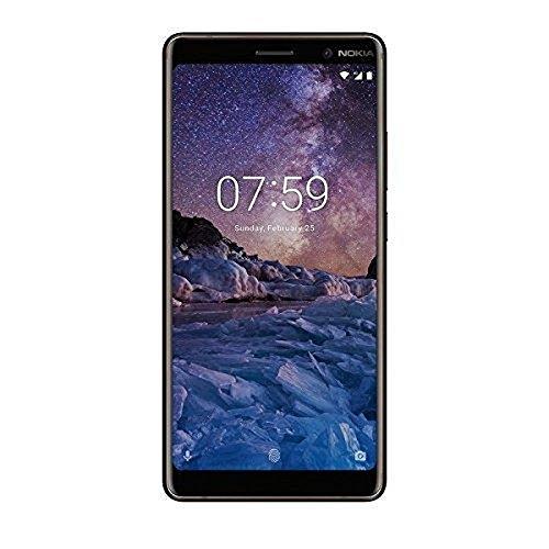 Nokia 7 Plus Dual SIM Smartphone (12+13MP Hauptkamera, optischer Zoom, 16MP Frontkamera, 64GB int Speicher, 4GB RAM, LTE, pure Android 8, NFC) inkl. Displayschutzfolie - schwarz/Kupfer