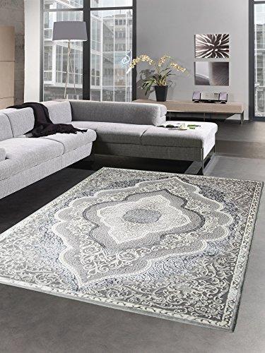 TaTappeti moderni tappeto a pelo corto tappeto de salotto orient grigio Größe 160x230 cm