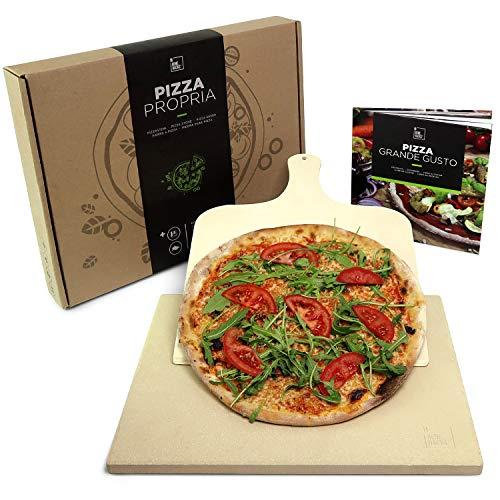 Piedra para pizza Pizza Propria de #benehacks | Para horno, barbacoa y parrilla | Incluye pala para...