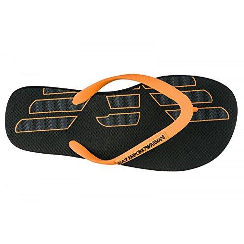 Emporio Armani Infradito EA7 Art: 905003 8P295 (IT 44, Black/Orange)
