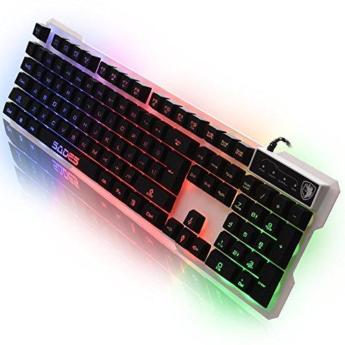 Sades Gaming Tastiere K7 Luce lingua Gaming USB della tastiera 7 commutabile retroilluminazione...
