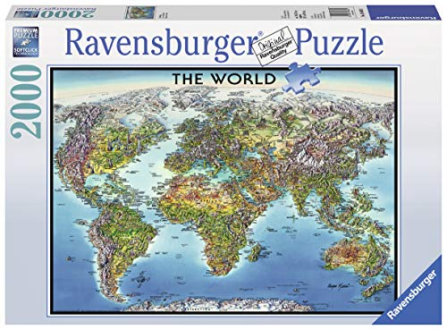 Ravensburger 16683 - World Map, Puzzle 2000 Pezzi