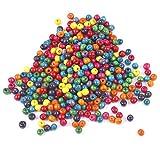 TRIXES 500 Cuentas de 7 mm de Madera en Colores Mezclados para Joyería Artística, Collares Brazaletes - Cuentas de Colores