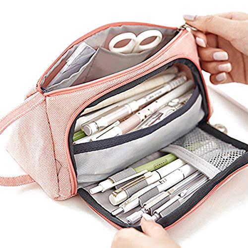 Custodia portatile con cerniera a forma di matita con astuccio in tela per penna