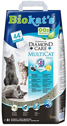 biokat S Diamond Care multicat Fresh Gatto diffusa/Alta qualità klump diffusa per Gatti con Carbone...