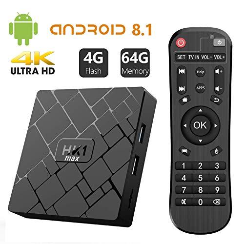 Bqeel TV Box Android 8.1 HK1 MAX / CPU RK3328 Quad-Core 64bit / 4G DDR3+64G EMMC / Dual WIFI 2.4/5G...