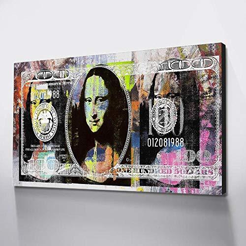 NIMCG Pittura a Inchiostro Impermeabile su Tela Soldi Poster e Stampe Arte Vintage Mona Lisa Poster...