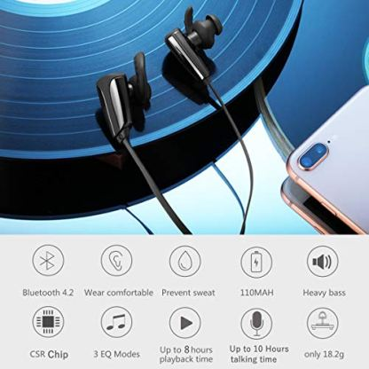 AIJEESI-Auriculares-BluetoothHiFi-Estreo-Auriculares-Inalambricos-Bluetooth-Micrfono-Cancelacin-De-Ruido-CVC-60-Auricular-CSR-con-3-EQ-Modos-10-Horas-de-Tiempo-de-Juego-Soporte-Dos-Dispositivos
