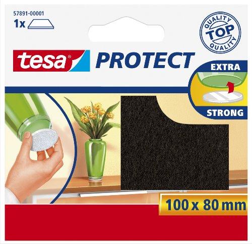 Surface Protectors Tesa, Anti graffio autoadesivi in feltro, 100 Mm X 80 Mm, colore: marrone...