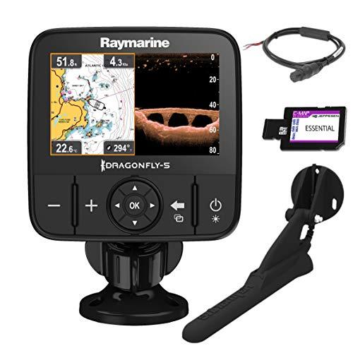 Raymarine E70293-CEUR Sonar/GPS Dragonfly-5Pro 5' (12,7 cm), CHIRP Down Vision integrata, CPT-DVS, WiFi, cartografia EU-CMAP Essentials