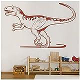 azutura Alectrosaurus Vinilos Jurassic World Dinosaur Pegatina Decorativos Pared Niños Decoración del hogar disponible en 5 tamaños y 25 colores X-Grande Musgo Verde