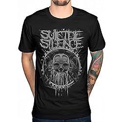 AWDIP Official suicidio Silence Head máquina camiseta Deathcore música álbum Chris Garza Negro negro Medium