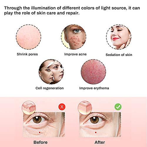 LED masque facial de traitement, Acne traitement Masque, Anti-âge masque, Masque de Luminothérapie LED Photon Therapy, 3 couleurs faciales t... 25