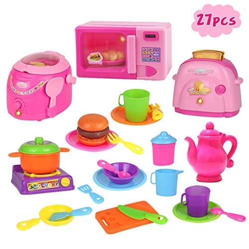 Nuheby Gioco Cucina Set Bambini Tostapane Giocattolo Microonde Bambini Giocattoli Bambina Regalo...