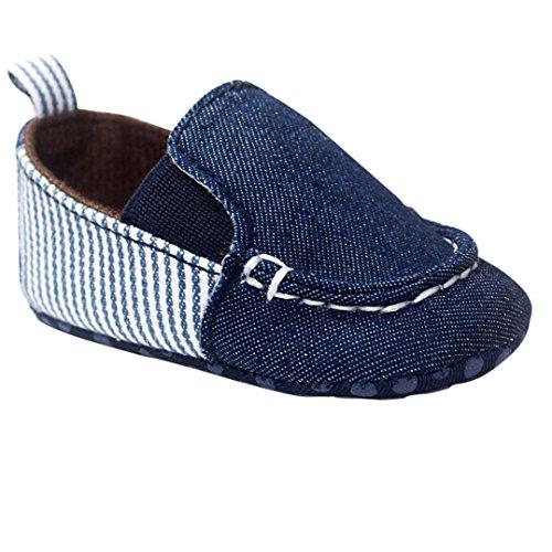 UOMOGO Scarpine neonato Scarpe Primi Passi Bambine Prima Infanzia Calzature Neonato con Cordoncino Bambino Ragazzi e Ragazza 0-18 Mesi (Età: 0~6 Mesi, Blu)