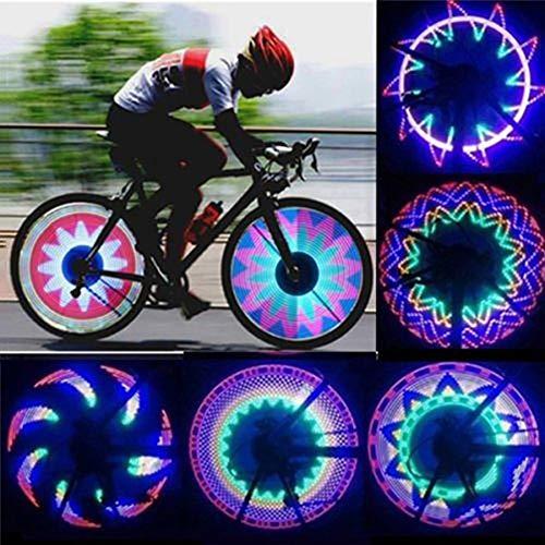 FCUCKDANN Luci per Ruote di BiciclettaImpermeabile Cerchio della Bici Raggi Luci per Raggio Bici...