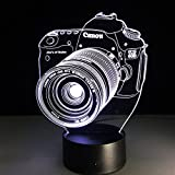 Eastlion Vision of 3D Led Night Light Creative Gift USB Desk Lamp Novelty Toys Touch or Remote (Camera)