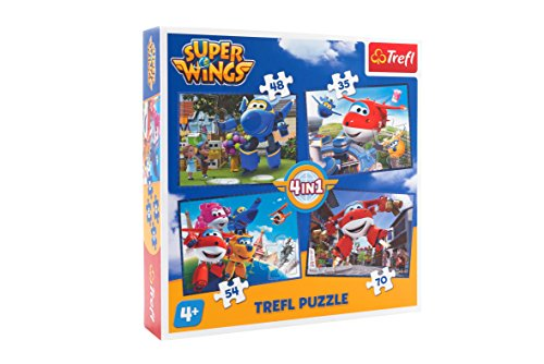 Trefl Puzzle 4 in 1 Super Wings, 07303