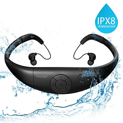 Tayogo Lettore MP3 Subacqueo 3m Nuoto 8GB IPX8 Hi-Fi Resistenza al calore 60 ° C per Nuoto Corsa...