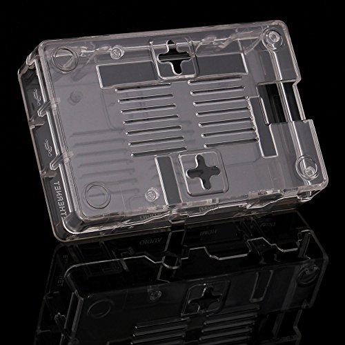 51NNpwemn7L - Aukru Nuevo 3-EN-1 Kit de Raspberry Pi 2 Modelo B/B + Transparente Caja + 5v 2000mA alimentación + 3 Conjunto del disipador de Calor