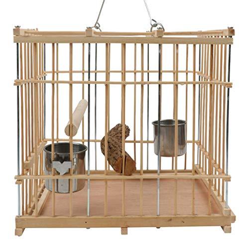 Squisita Gabbia per Uccelli Piccola Gabbia per pappagalli Gabbia per piccioni Quadrati di bambù...